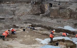 Les fouilles en cours sur le chantier de rénovation de l'Hôtel-Dieu à Lyon